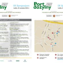 Program sympozjum z mapką istotnych miejsc